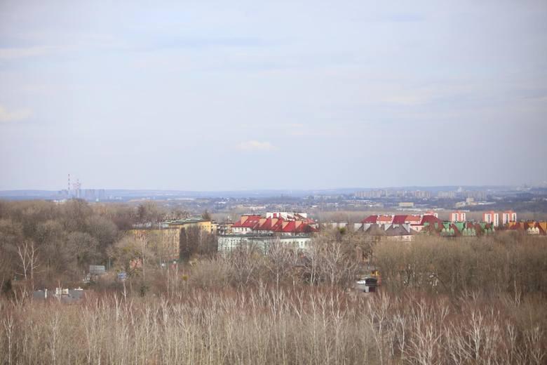 Widok z hotelu Park Inn by Radisson przy ul. Targowej. W okolicy tego terenu ma powstać osiedle mieszkaniowe