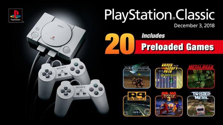 W pamięci nowej konsoli PlayStation Classic wgrane będzie 20 gier, które mają przypomnieć graczom czasy dzieciństwa i złotej epoki lat 90. Co ważne,