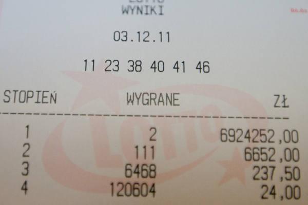 Liczby, które przyniosły szczęście w Lotto w sobotę to: 11, 23, 38, 40, 41 i 46.