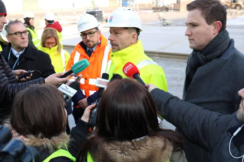 Wizyta dziennikarzy na budowie kompostowni ZUT