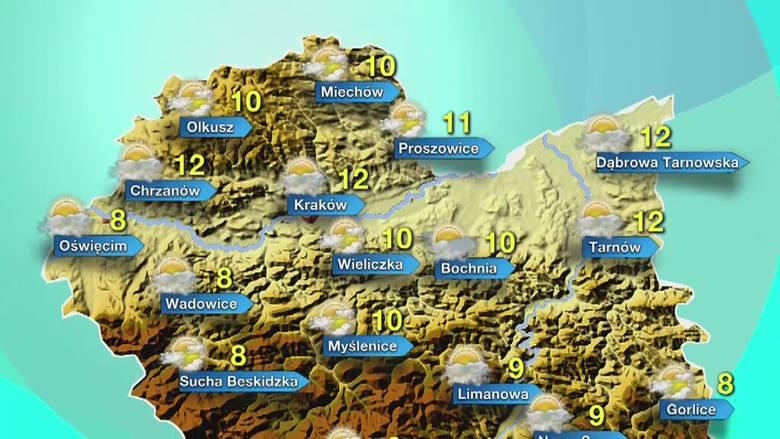 Prognoza pogody dla Małopolski na sobotę