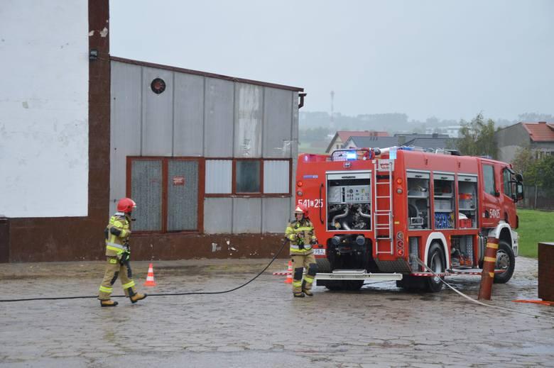 Strażacy opanowali wyciek amoniaku w przetwórni [galeria]