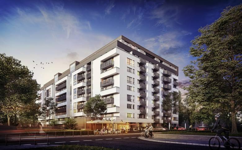 Grunwald Kwadrat to osiedle liczące 133 mieszkania przy ul. Świerzawskiej budowane przez Ronson Development. <br /> <br /> <strong>Przejdź do kolejnego zdjęcia ---></strong>