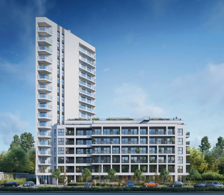 Jak łódź z żaglem na maszcie - Star Tower to najmniejszy z projektów, realizowanych w Letnicy. W dwubryłowym kompleksie będzie ok. 100 mieszkań.