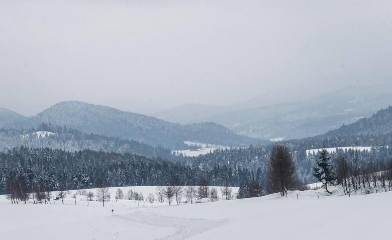 Zima w Bieszczadach.