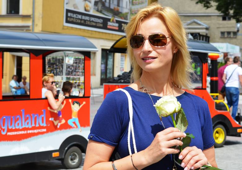 Joanna Brodzik opowiadała m.in. o Lubsku, Zielonej Górze, gdzie dorastała.