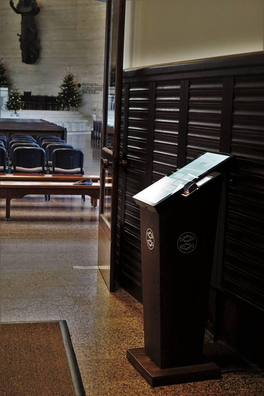 Ofiaromat w kościele św. Maksymiliana Marii Kolbego