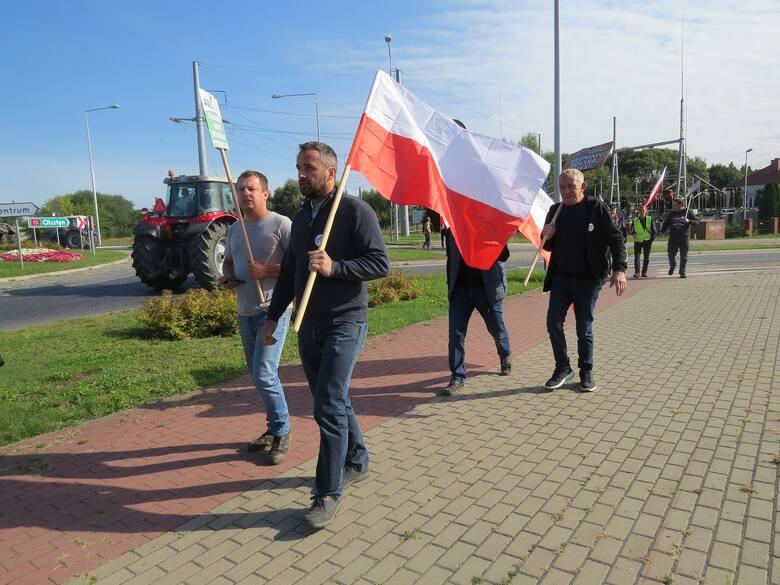 Protest rolników w Brodnicy (Kujawsko-Pomorskie) 25.08.2021