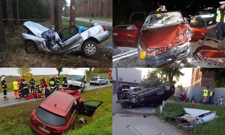 W których powiatach doszło do największej liczby wypadków w ciągu roku? Podajemy liczbę wypadków, zabitych i rannych. Wyniki prezentujemy zaczynając