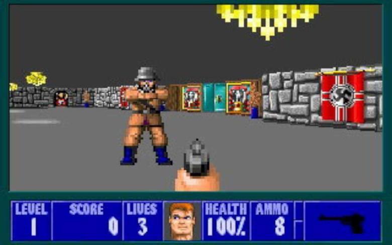 Gatunek: FPSData premiery: 1992Producent: id SoftwareSkąd pobrać: sklep MicrosoftuJedna z pierwszych tego typu gier w historii. W związku z tym Wolfenstein