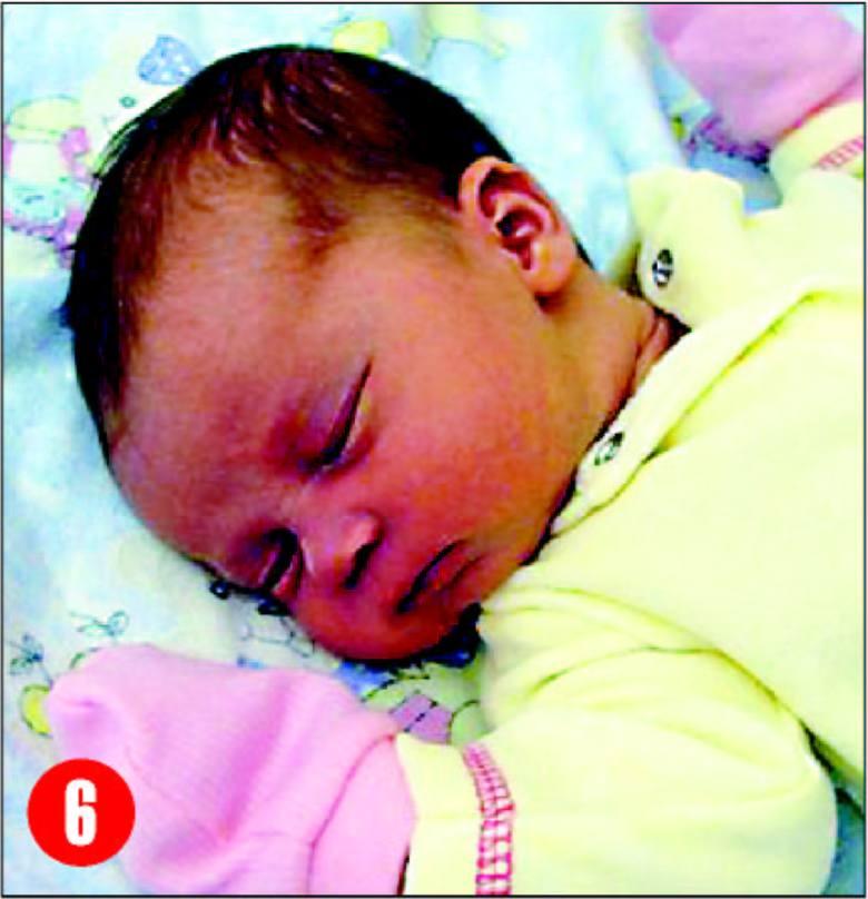Córka Moniki i SlawomiraDąbkowskich z Surowego, urodzilasie 1 sierpnia o godz. 16.03.Wazyla 3780 g, mierzyla 57 cm.