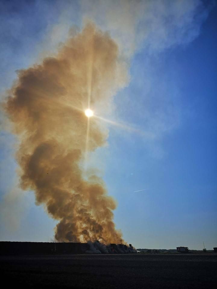 Juchnowiec Górny. Pożar ciuków słomy