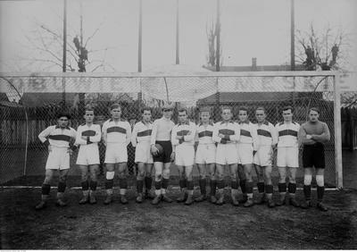 Tak piłkarze Garbarni prezentowali się w 1928 roku