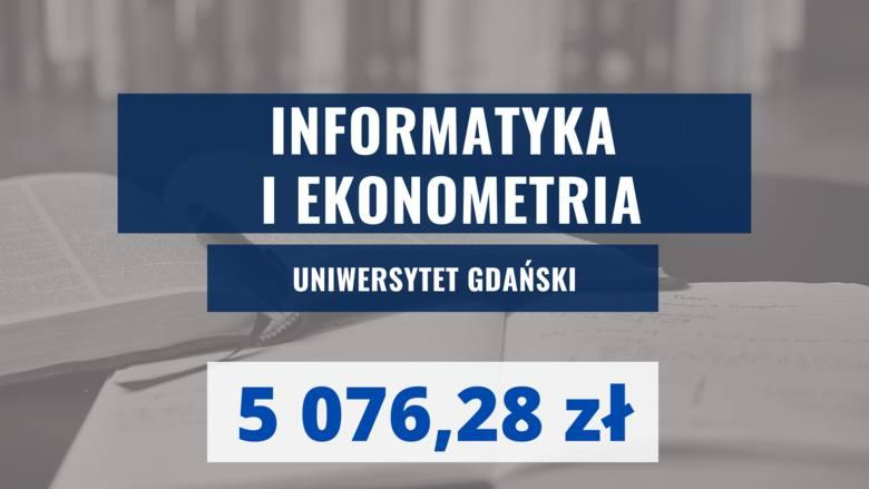 UNIWERSYTET GDAŃSKINiestacjonarne, Wydział Zarządzania, II stopnia, 4-semestralne, profil ogólnoakademicki. Oto dobrze opłacane kierunki studiów w Gdańsku!
