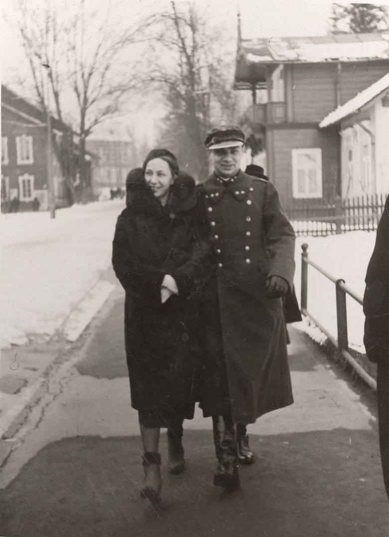 Michał Frank z żoną w Krynicy Górskiej