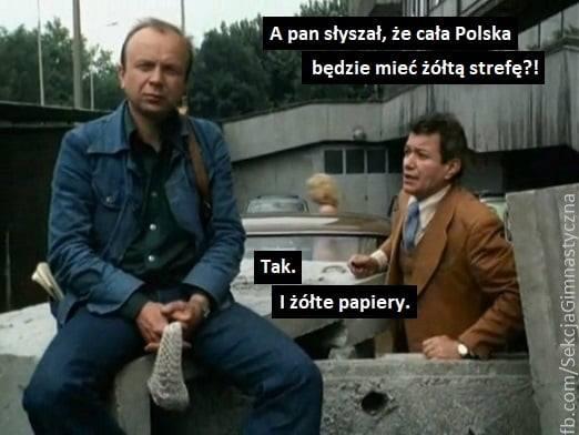 Cała Polska w żółtej strefie MEMY