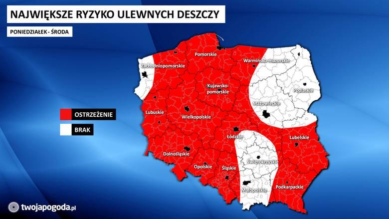 Dolny Śląsk jest wśród województw najbardziej zagrożonych opadami w najbliższych dniach. Pod znakiem deszczu ma upłynąć praktycznie cały wtorek - czyli