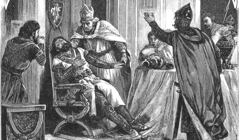 Śmierć Kazimierza Sprawiedliwego w roku 1194. Książę prawdopodobnie zginął od trucizny. Nie pozostawił po sobie pełnoletniego następcy