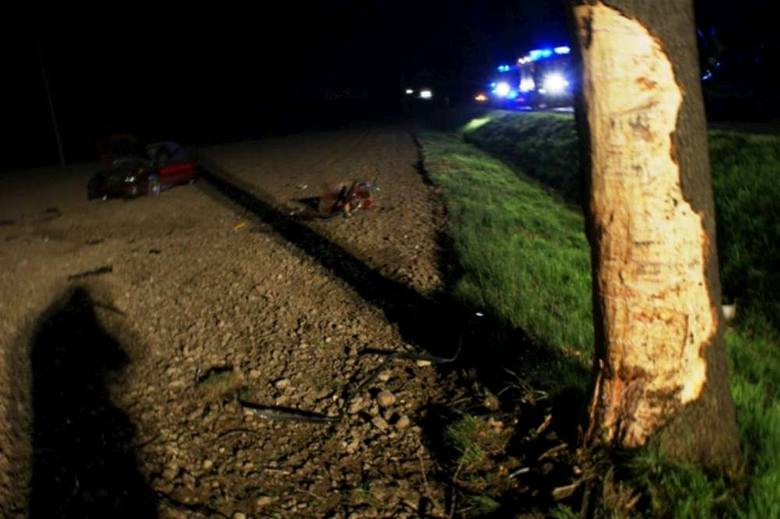 Krotoszyn: Jedna osoba zginęła w wypadku między miejscowościami Wolenice i Bożacin [ZDJĘCIA]