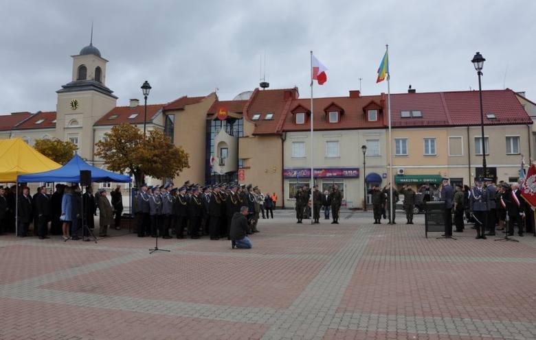 Po uroczystościach maszt i flagi wróciły na swoje miejsce.