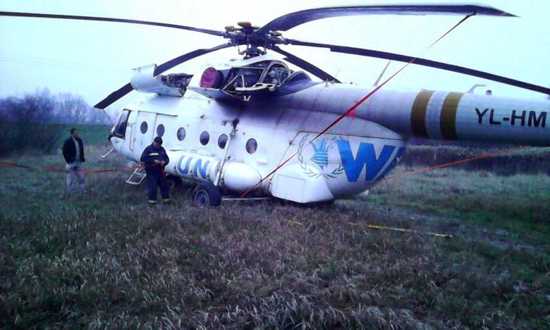 Awaryjne lądowanie helikoptera ONZ w Jaśle