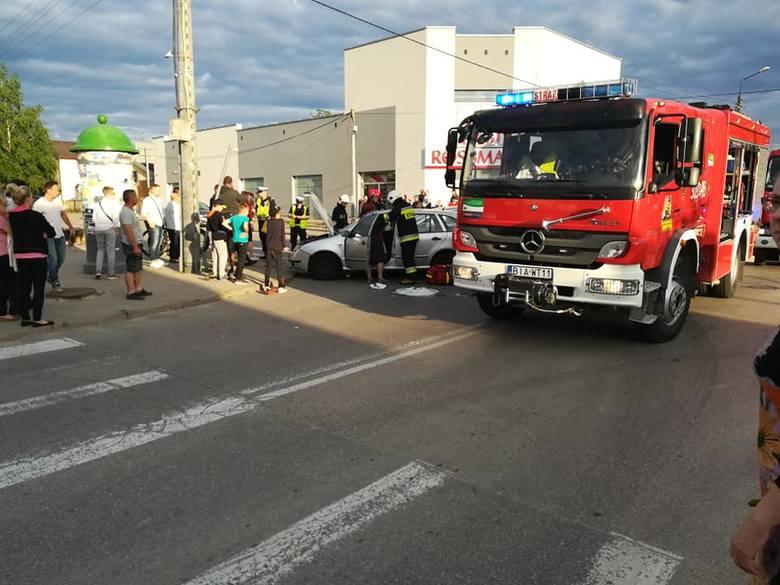 W środę, przed godz. 19 na skrzyżowaniu ulic Polnej i Kościelnej doszło do wypadku.