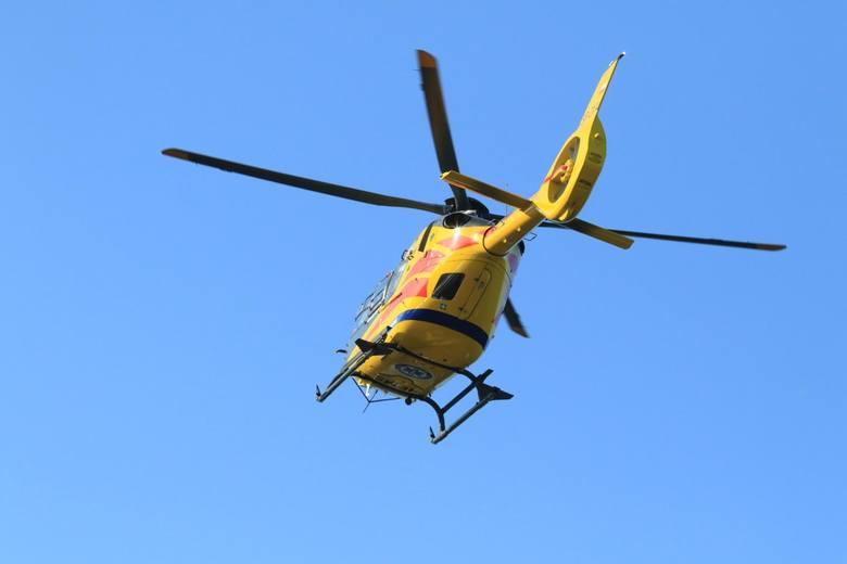 Na miejscu wypadku na DK 92 musiał lądować śmigłowiec LPR.