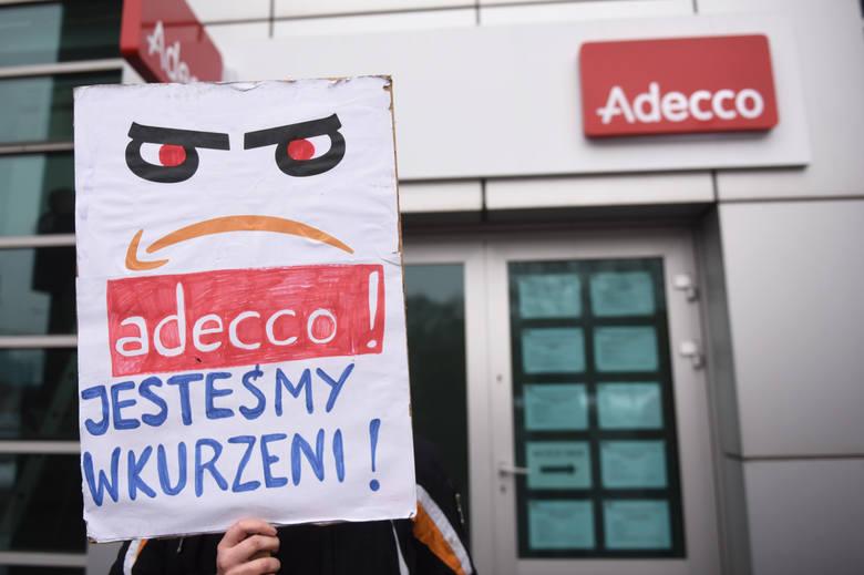 Członkowie Inicjatywy Pracowniczej protestowali przeciwko złym warunkom pracy