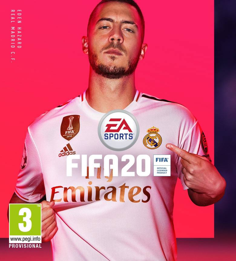 FIFA 20. Eden Hazard na okładce podstawowej wersji gry
