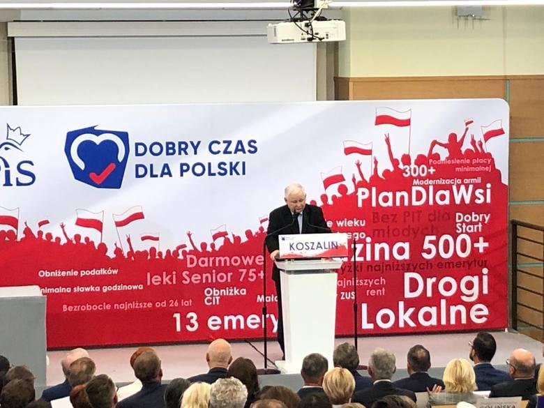 Jarosław Kaczyński w Koszalinie