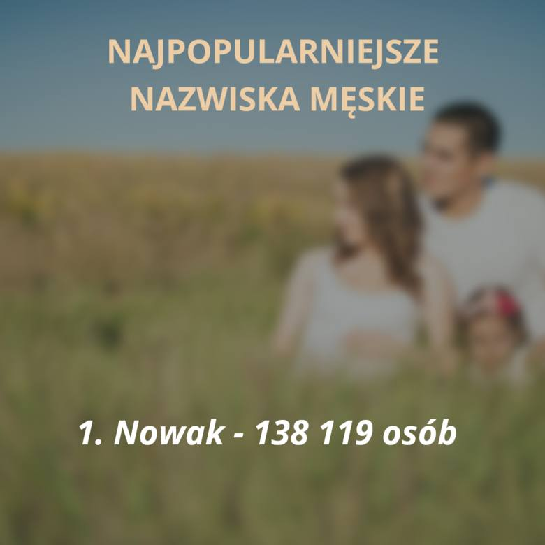 Oto sto najpopularniejszych nazwisk męskich w Polsce. Jesteście ciekawi, czy Wasze nazwisko jest wśród tych najczęściej spotykanych? Sprawdzicie to na