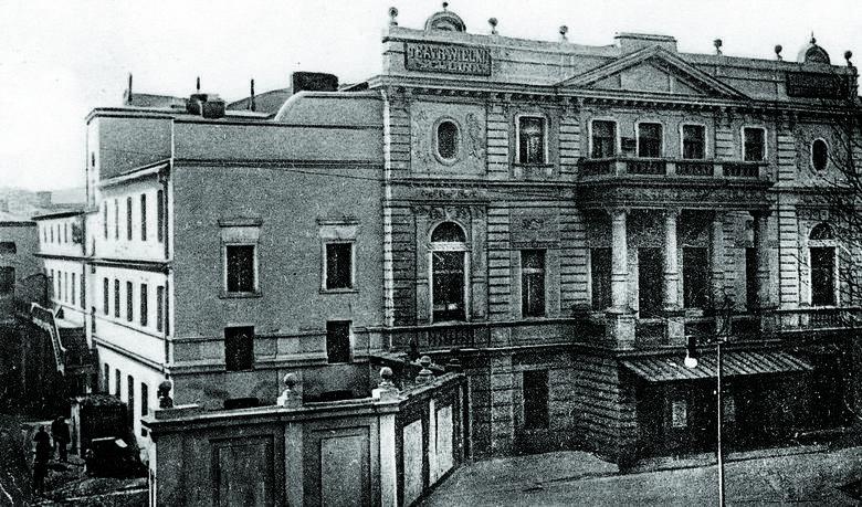 Nieistniejący już Stary Teatr Wielki w Łodzi znajdował się przy ul. Konstantynowskiej 14/16 (obecnie jest to ul. Legionów).