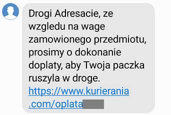 Tak wygląda fałszywy SMS