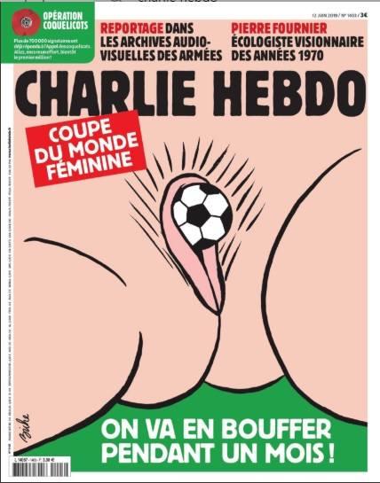 Kolejna kontrowersyjna okładka Charlie Hebdo. Tym razem w trakcie kobiecego mundialu...
