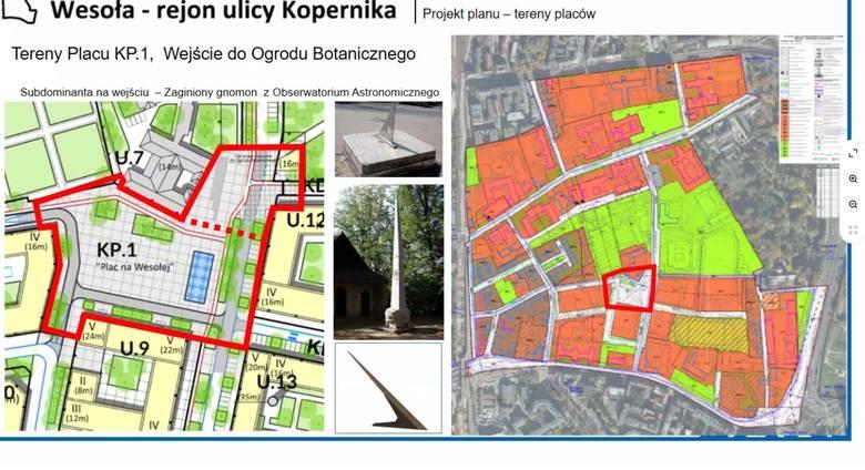 Nowy plac miejski planowany na Wesołej, wraz z wejściem do Ogrodu Botanicznego