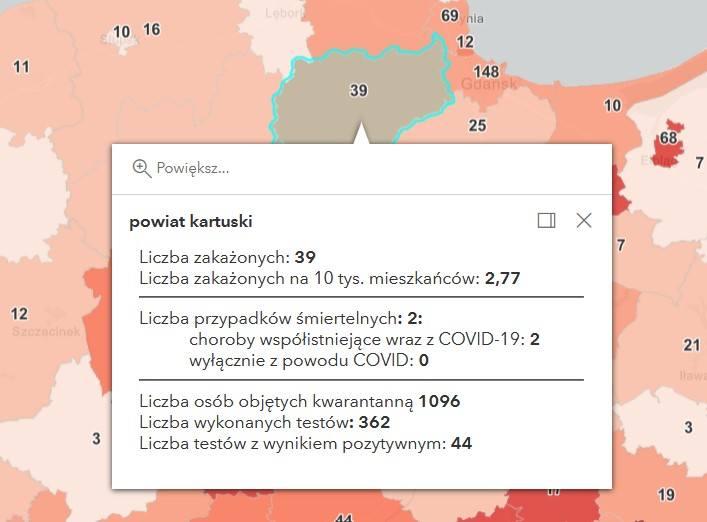 Zakażenia na Pomorzu 13.04.2021 r.