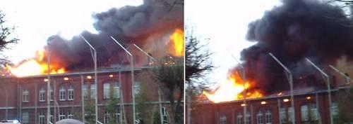 Pożar szkoły w Sianowie