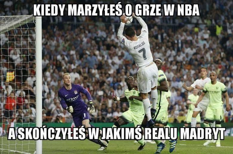 Memy po meczu Real - Manchester City: Ronaldo to koszykarz?! [GALERIA]