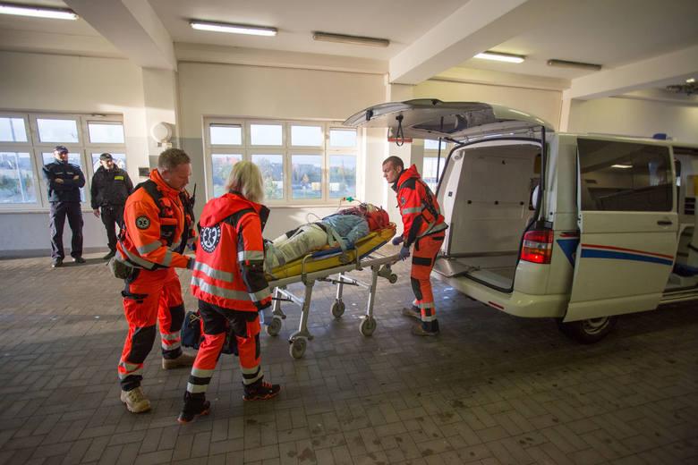 Ćwiczenia ratunkowe w słupskim szpitalu.