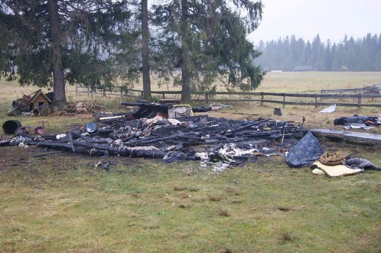 Podhale: Tragiczny pożar bacówki [ZDJĘCIA]