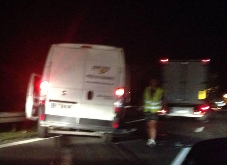 Choroszcz. Kolizja na DK 8. Bus najechał na ciężarówkę (zdjęcia)