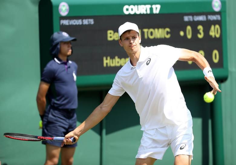 Przed rokiem Hubert Hurkacz odpadł w pierwszej rundzie Wimbledonu