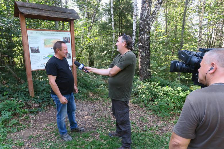 """Badacze prowadzą poszukiwania sztolni """"Róża"""" na terenie Nadleśnictwa Cisna w Bieszczadach"""