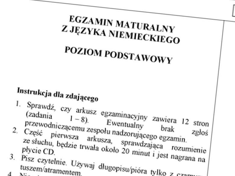Matura 2011. Język niemiecki - pytania