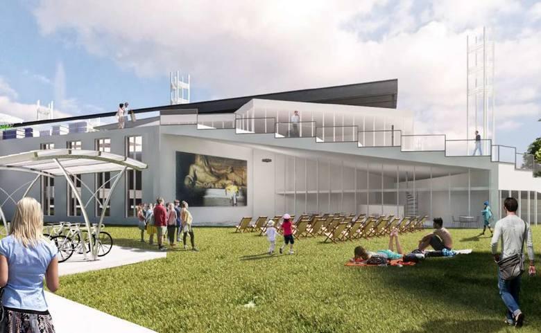Wizualizacja hali lekkoatletycznej autorstwa architektów wskazanych przez stronę społeczną