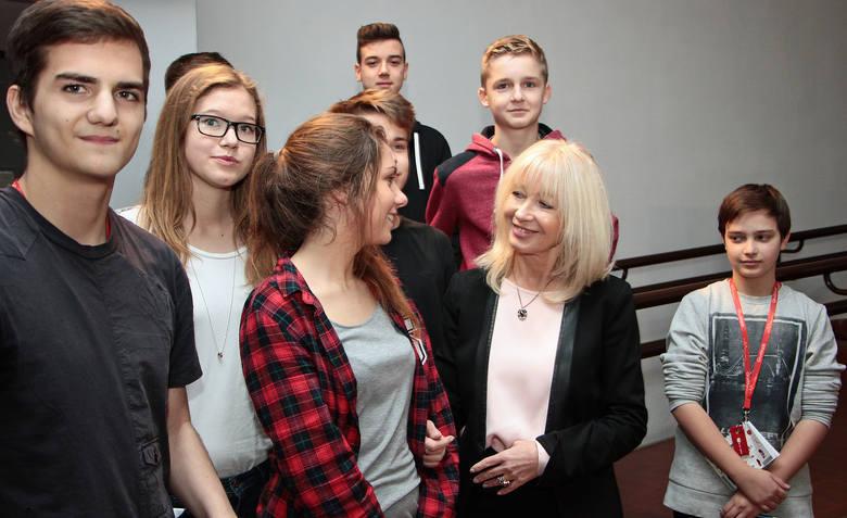 Uczniowie z Grudziądza spotkali się z Anną Marią Wesołowską.