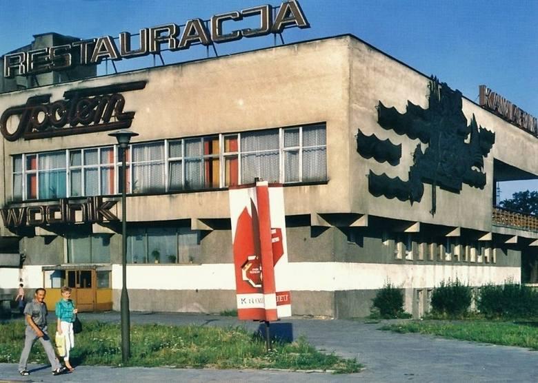 Miejsce, które zna każdy krośnianin. Restauracja Wodnik, znajdująca się w dolnej części miasta. Zdjęcie z 1989 r.