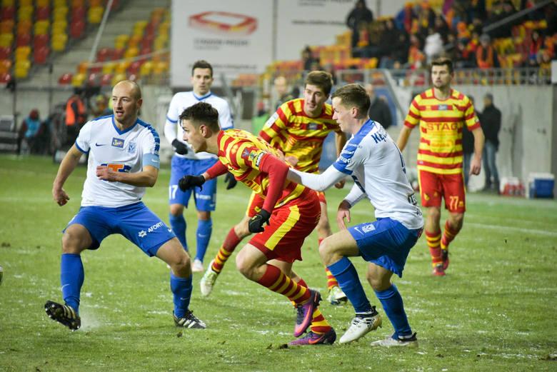 Fedor Cernych strzelił na 2:1 i Jagiellonia zgarnęła trzy punkty wskakując na fotel lidera Lotto Ekstraklasy