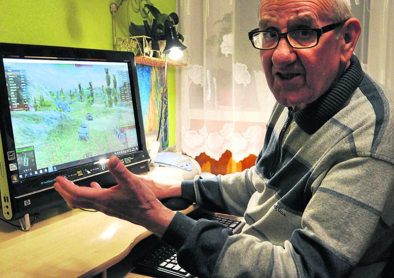 """Hubert Donnerstag z Katowic jest zapalonym graczem komputerowym. Wiek nie jest przeszkodą, choć czasem wyznaje, że trochę """"nie nadąża manualnie za m"""