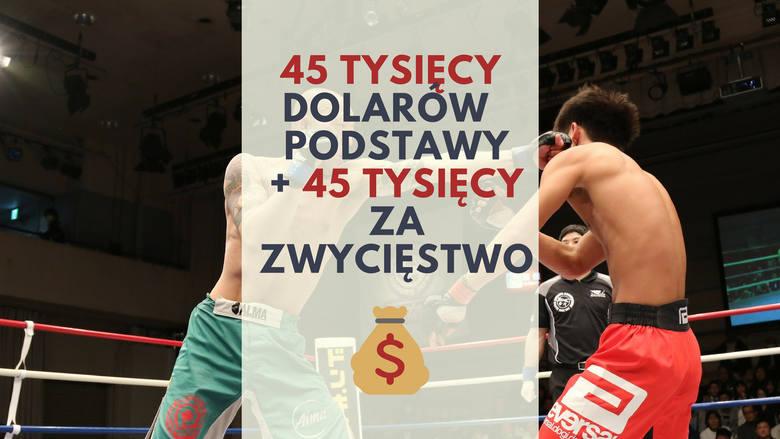 45 tys. podstawy + 45 tys. dolarów za zwycięstwoZa zwycięską walkę mężczyzn na światowym poziomie federacja przeznacza 45 tysięcy dolarów + drugie tyle